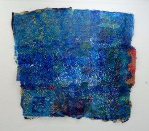 Ola Koziol, Rohöl Decke, Łódź (PL), 2013, Collage, Plastiktüten,  2 x 2,10 m