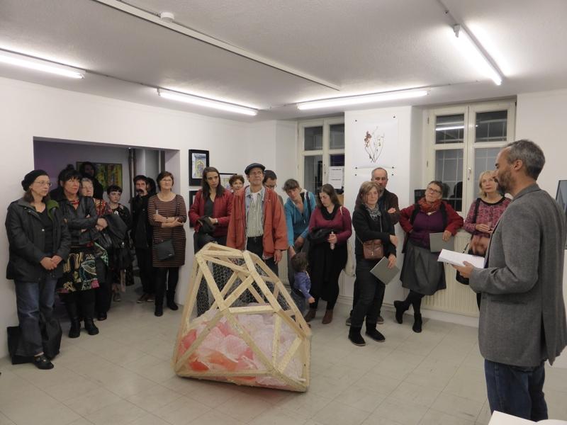 Vernissage mit ECO - DIAMOND von Sandra Bozic, 2012, Belgrade, Serbia, Object