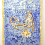 """Alfred Banze """"Ich selbst, als..."""" 2015 Berlin, Germany Zeichnung Tusche und Wasserfarben auf laminiertem Papier 100 x 150 cm - Cargo - Alles immer überall"""