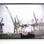 "Marzena Brandt ""Container Terminal Tollerort / Elbe 17 Trockendock"" 2013 Hamburg, Germany Foto auf Fotopapier, gerahmt 60 x 40 cm - Cargo - Alles immer überall"