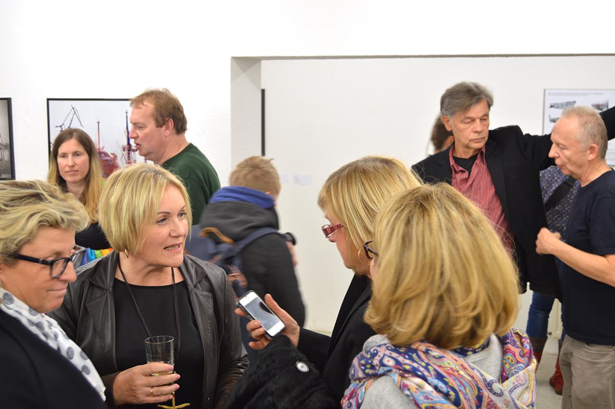 Eröffnung der Ausstellung CARGO am 6.11.2015