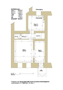 Room Plan GG3 - About us- Rooms, Light, Video, Podium