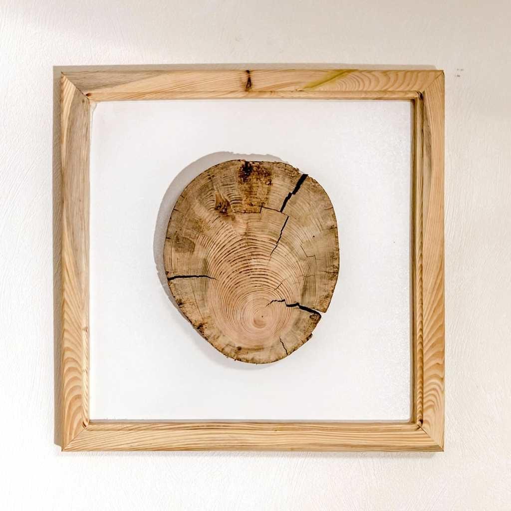 Local frame. Sven Wieder. Leipzig Germany, 2020, 40cm x 40cm x 4cm, assemblage wood, 350€