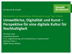 Vortrag Christian Löwe, UBA Klimawandel to go