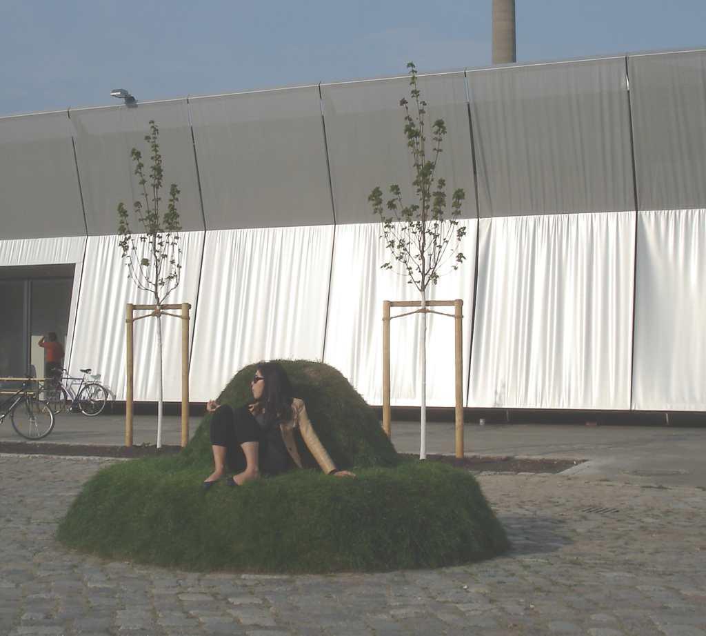 Frau auf Grasbank, (C) T.A.