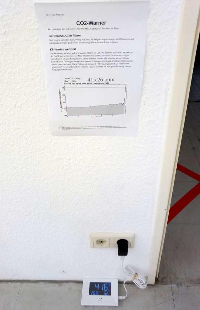 CO2-Warner, (T.A.) Hygienekonzept GG3